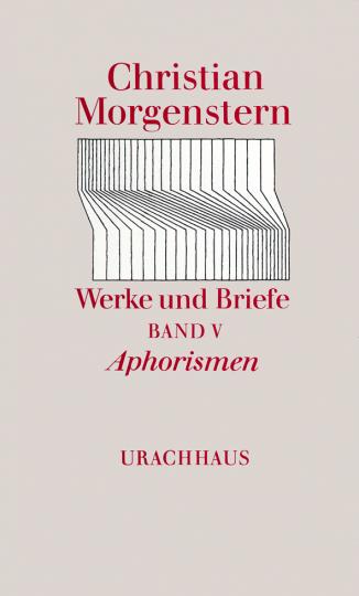 Band 5: Aphorismen  Christian Morgenstern   Reinhardt Habel